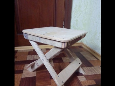 How to make a folding stool from plywood
