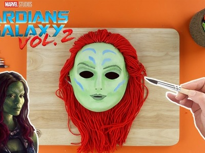 How To Make A Gamora Mask From Guardians Of The Galaxy ???? Paper mache crafts ???? Crafty Kids
