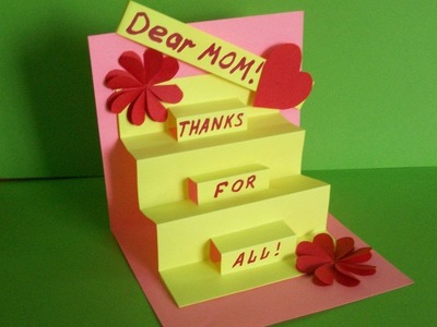 How To Make A Greeting Pop Up Card For Mom| Birthday Mother's Day Handmade Gifts and Ideas