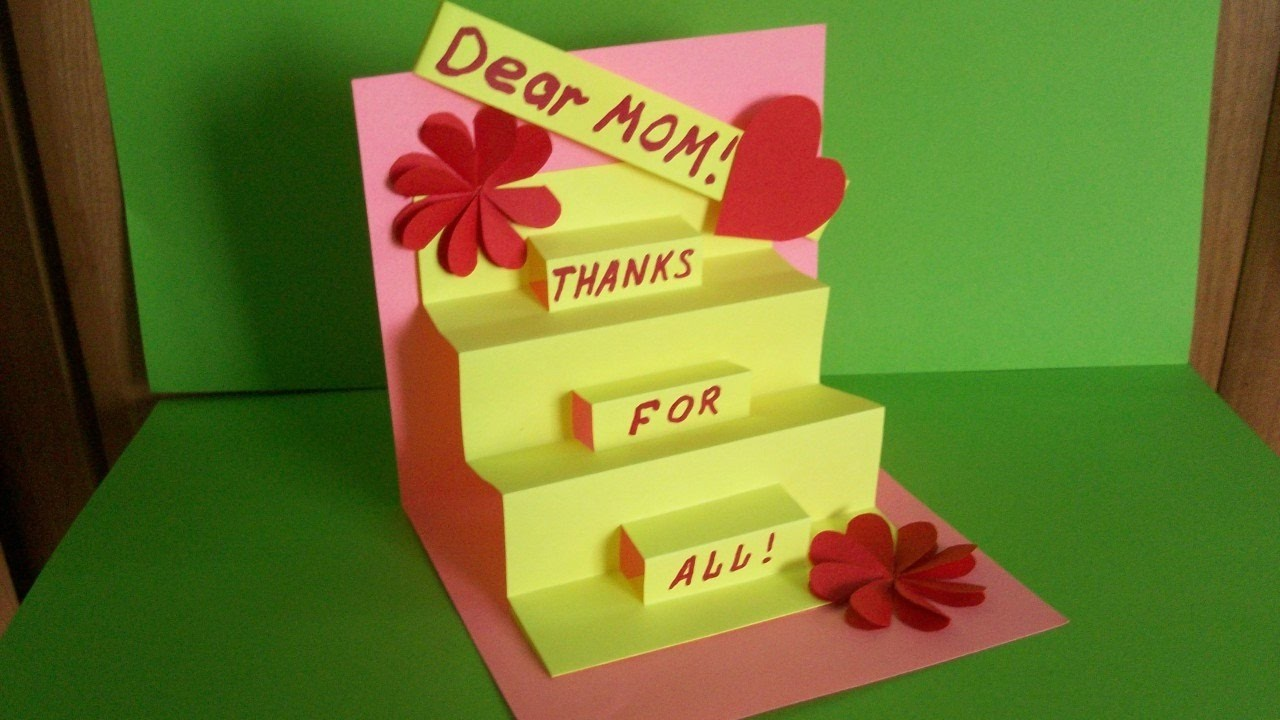 How to make a greeting pop up card for mom birthday for Pop up birthday cards for mom