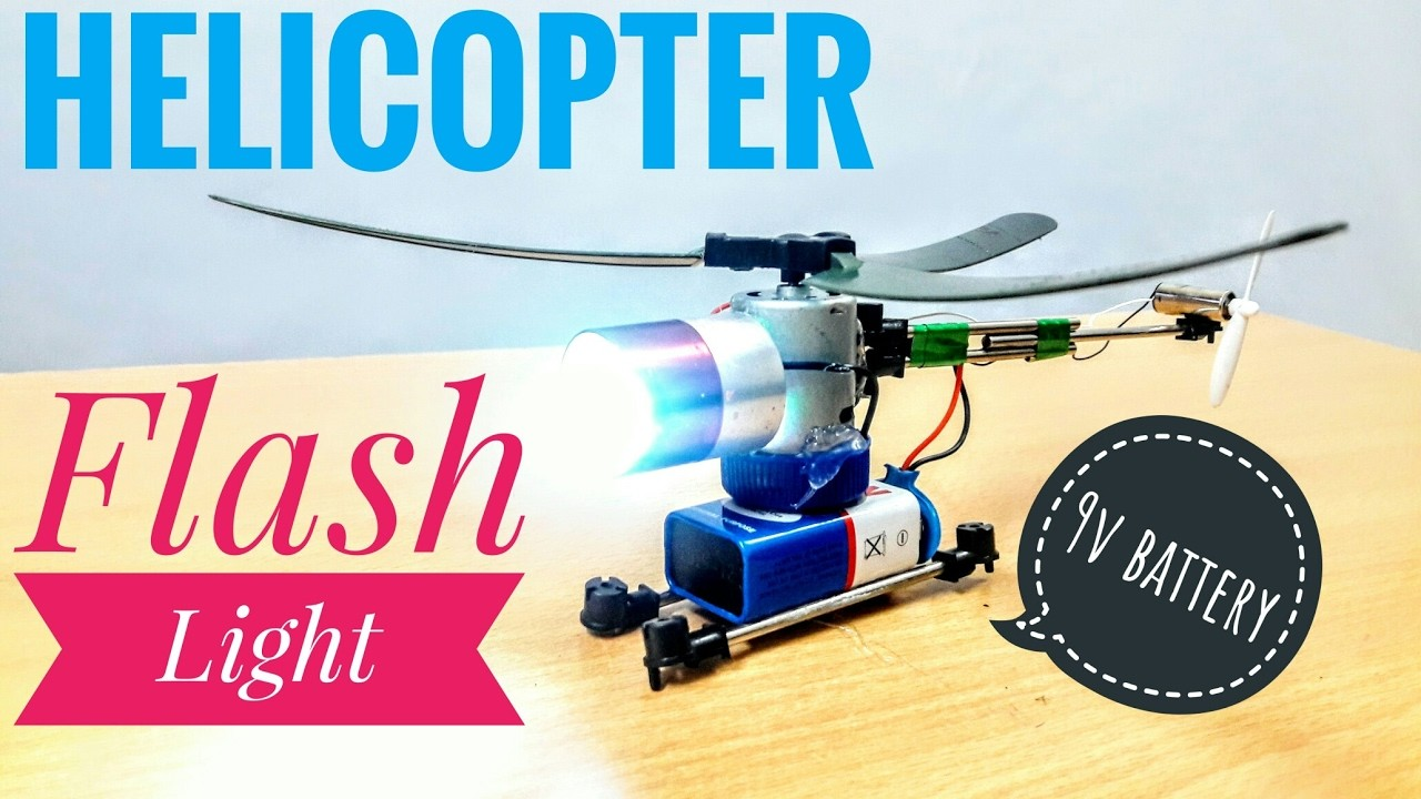 How to make a helicopter very easy at home