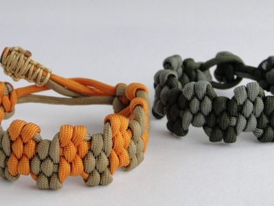 "How to Make a ""King Crown"" Zig Zag Trilobite Paracord Survival Bracelet by CbyS - Mad Max Style"