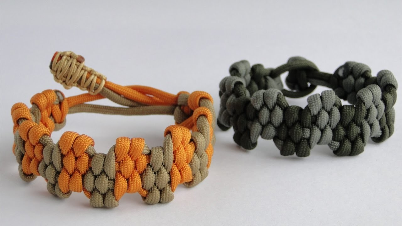 """How to Make a """"King Crown"""" Zig Zag Trilobite Paracord Survival Bracelet by CbyS - Mad Max Style"""
