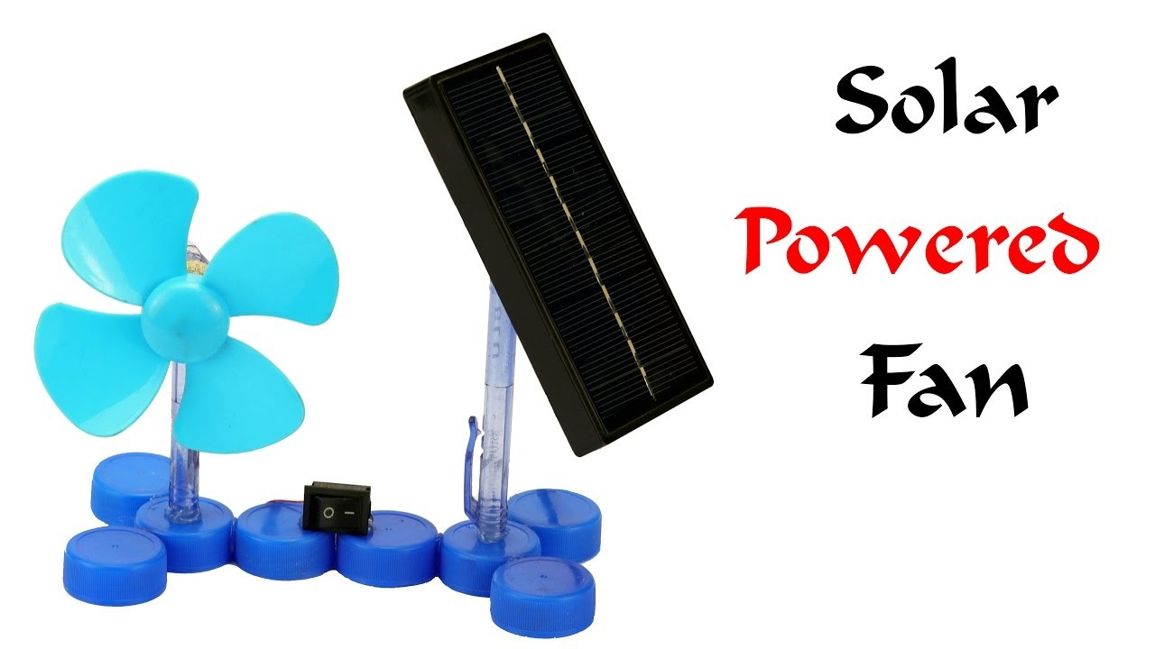 How to make a mini solar powered electric fan at home for How to make a simple solar panel for kids