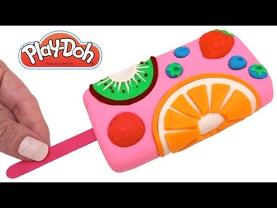 How to Make a Play Doh Fruit Ice Cream Popsicle & Learn Colors