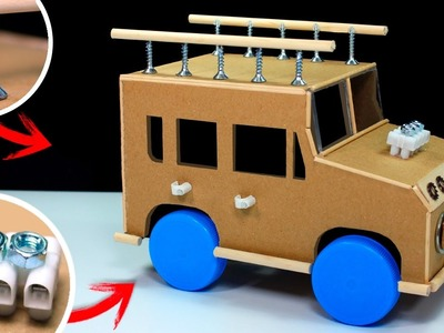 How To Make a Powered Car   Electric Car DIY