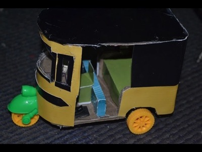 How to Make a Rickshaw in Cardboard at home DIY Crafts