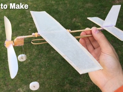 How to Make a Simple Rubber Band Powered Airplane at Home