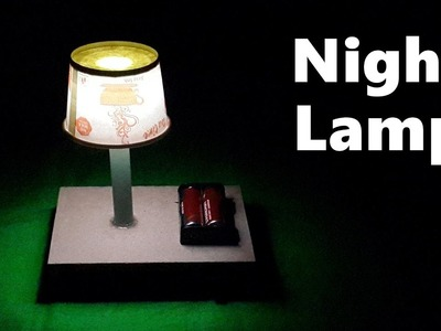 How to Make a Simple Table.Night Lamp at Home