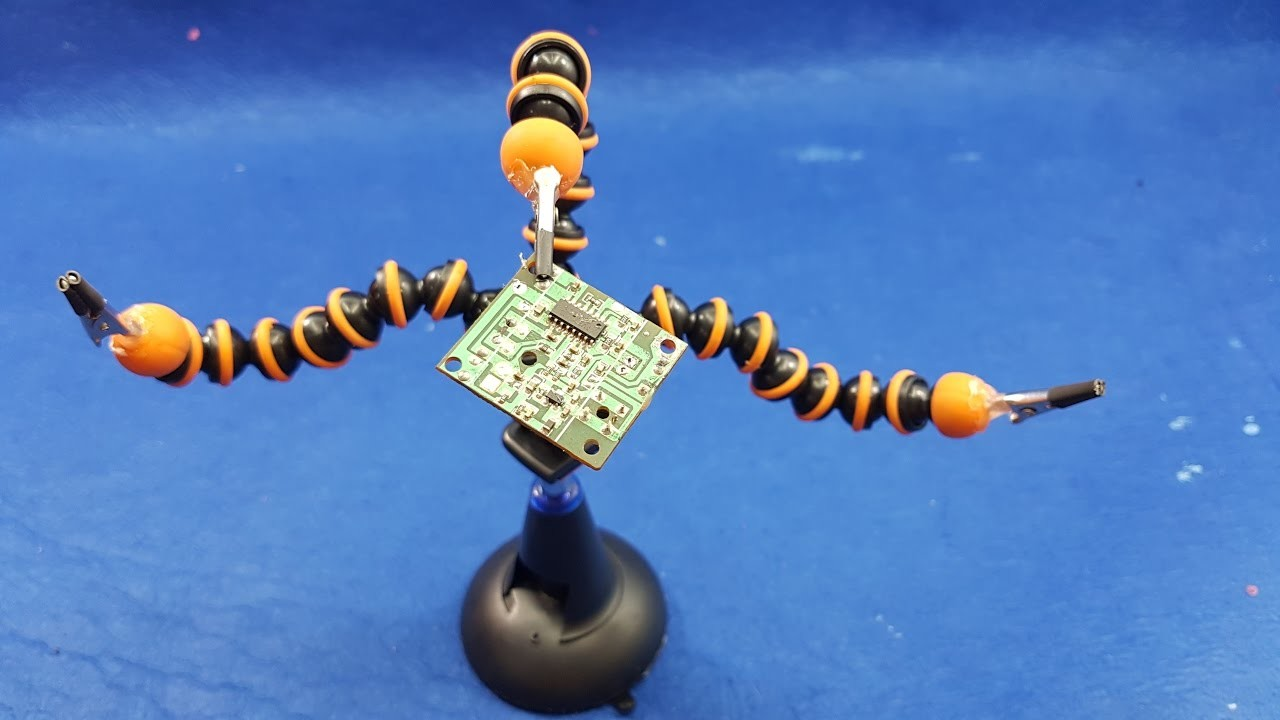 How To Make a Solder Stand Clamp from Gorillapod