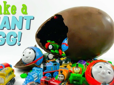 How to make a Thomas and Friends Huge Chocolate easter egg with lots of candy and surprises