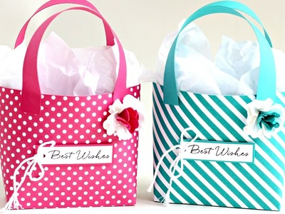 How to make a three paper tote bags form one sheet of 12'' x 12'' paper