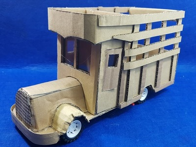 How to Make a Truck with cardboard at home - DIY Make a Old Classic Truck