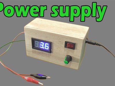 How to make adjustable voltage Simple power supply LM317 IC