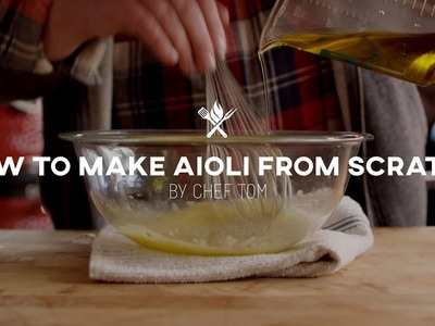 How to Make Aioli from Scratch | Tips & Techniques by All Things Barbecue