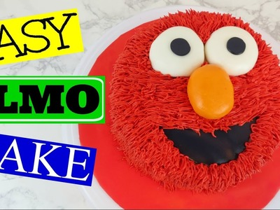 HOW TO MAKE AN EASY ELMO CAKE