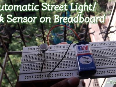 "How to make ""Automatic Street Light.Dark Sensor"" on Breadboard [HD]"