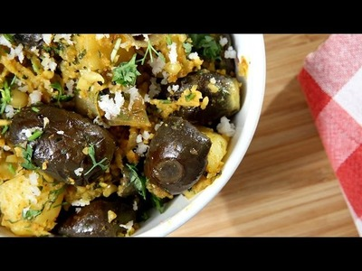 How To Make Baingan Aloo   Eggplant Potato Vegetable Recipe   Brinjal Potato   Ruchi Bharani
