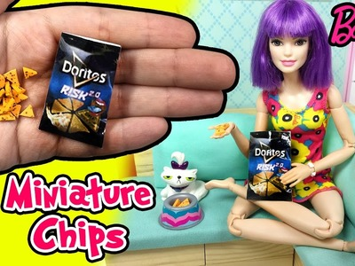 How to Make Barbie Doll Chips and Bag - DIY Easy Miniature Doll Food - Making Kids Toys