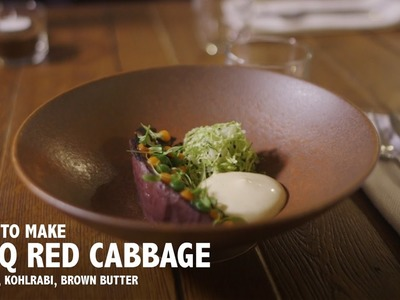How to Make BBQ Red Cabbage, Carrot, Kohlrabi, Brown Butter