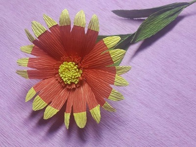 How to Make Blanket Paper flowers - Flower Making of Crepe Paper - Paper Flower Tutorial