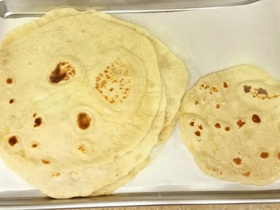 How To Make Burrito Sized Tortillas - Extra Large Tortillas Recipe