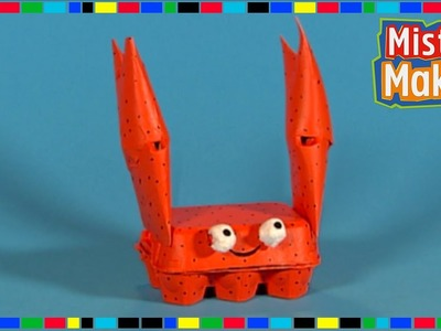 HOW TO MAKE: Cute Cardboard Crab! | Mister Maker