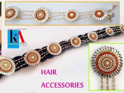 How to make designer Bridal Jada | Hair Accessoriess Jewellery | design No 192
