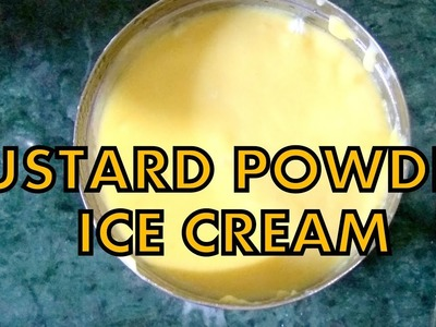 How to make easy custard powder ice cream at home in english