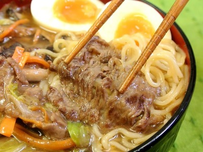 How to make Easy Ramen with Beef topping
