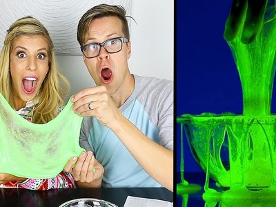 HOW TO MAKE GLOW IN THE DARK SLIME WITHOUT BORAX - (DAY 106)