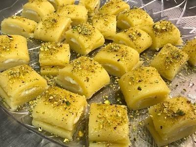 How To Make Halawet El Jibn.Sweet Cheese (حلاوة الجبن)