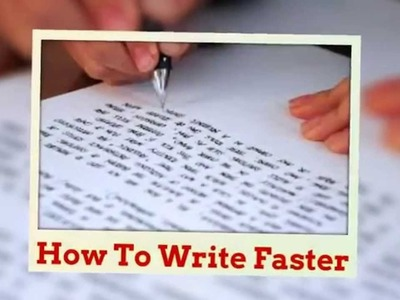 How to make handwriting really FAST in THREE steps