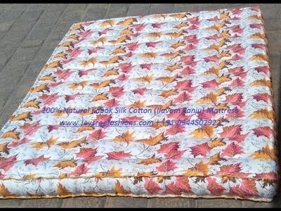 How to make inside box cavity stitching  for kapok silk cotton Mattress  video-part2