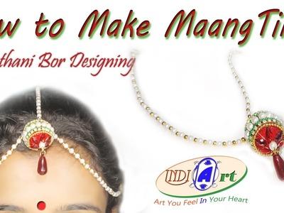 How to make maang tikka at home | silk thread jewellery | INDI ART | #3