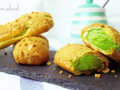 How to make Matcha Green Tea Crunchy Eclairs | d for delicious