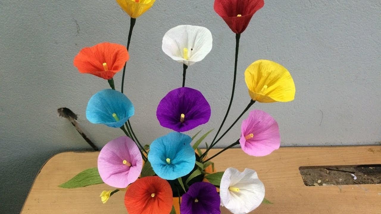 Flores diy tutorial como hacer flores de papel crepe - Www como hacer flores com ...