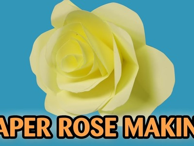 How to Make Paper Rose Flower   Flowers for Beginners Making   Silly Kids
