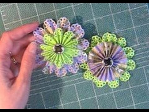 How to make paper rosette flowers timesaver make two at the same how to make paper rosette flowers timesaver make two at the same time mightylinksfo