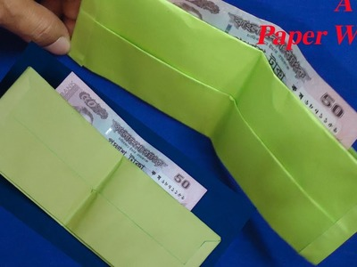 How To Make Paper Wallet or Money Bag