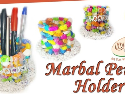 How to make pen holder with waste material | CD Pen holder| INDI ART#2