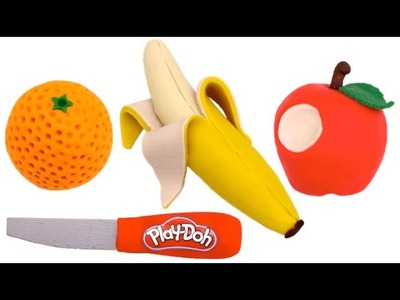 How to Make Play Doh Fruit - Apple Banana Orange - Learn Colors RL
