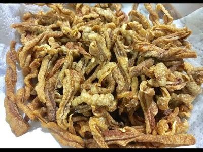 How to make Pork ears grind ( LAO FOOD ) HOME MADE BY KAYSONE
