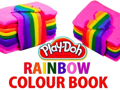 How to Make Rainbow Colored Book With Play Doh - Beat the Heat with Silly Kids