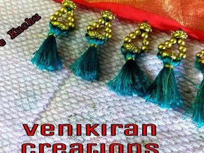 How to Make Saree Tassel.Kuchu design with Beads at Home - Design 17::Tutorial