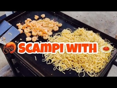 ♨️ How To Make Shrimp Scampi With Linguini On A Blackstone Griddle