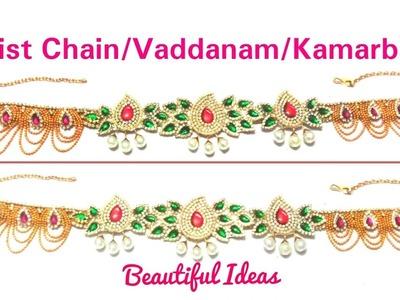 How to make Silk thread Bridal Waist Chain. Vaddanam. Kamarbandh.Hip Chain at Home  . Tutorial