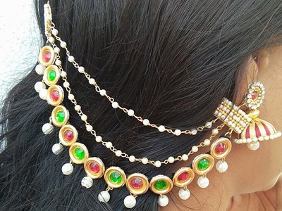How To Make Silk Thread Champaswaralu. Side Ear Chains. Champaswaralu latest Designs. DIY
