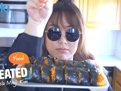 How to Make Sinjeon Cheese Kimbap by Angela Minji Kim (Episode 1) | Viki CREATED