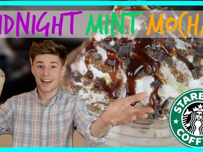 HOW TO MAKE STARBUCK'S MIDNIGHT MINT MOCHA | THURSDAY TRENDING TOPIC | Ryan And Aiden